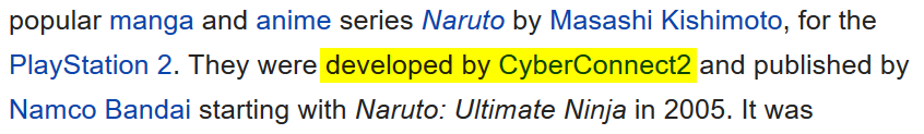 """developed by CyberConnect2"""
