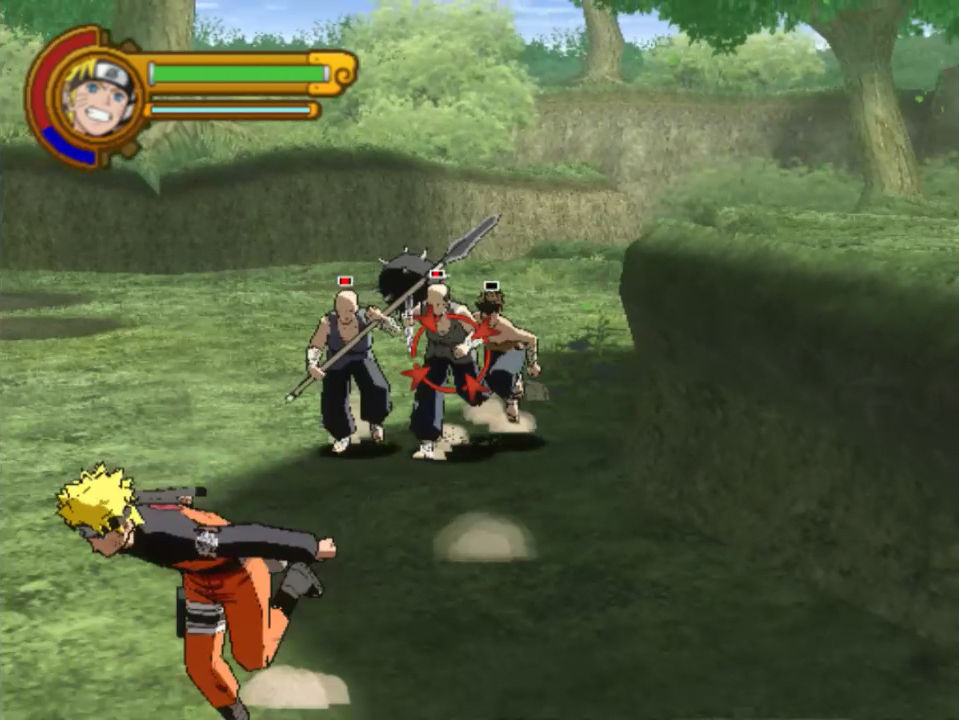 3D Naruto brawler, featuring Naruto running away from his problems