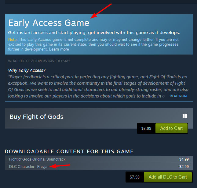 So we're just out here selling DLC characters in an early access game, huh.