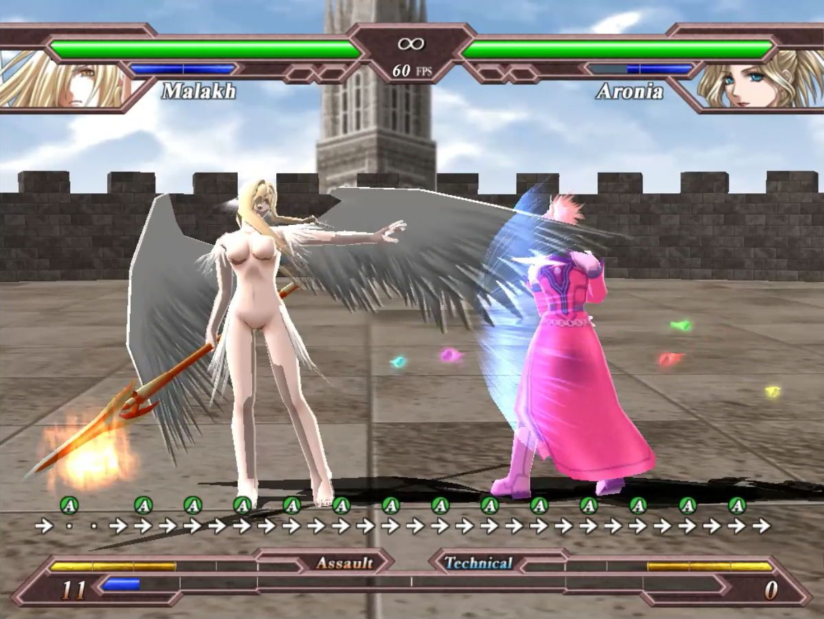 Titty angel shows off a wing jab