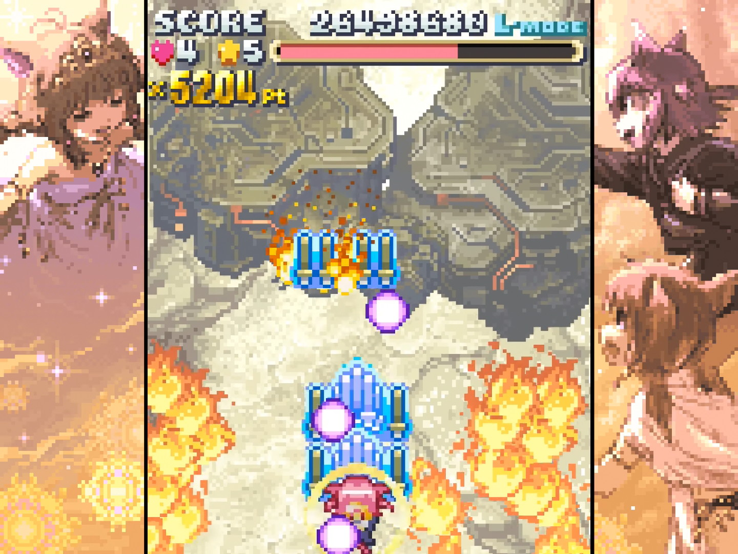 gameplay screenshot, featuring some hella cute margin art